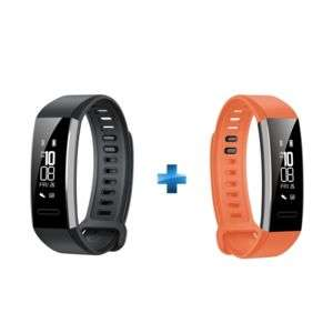 Lot de 2 bracelets Connectés Huawei Smartband 2 Pro - Noir et Orange