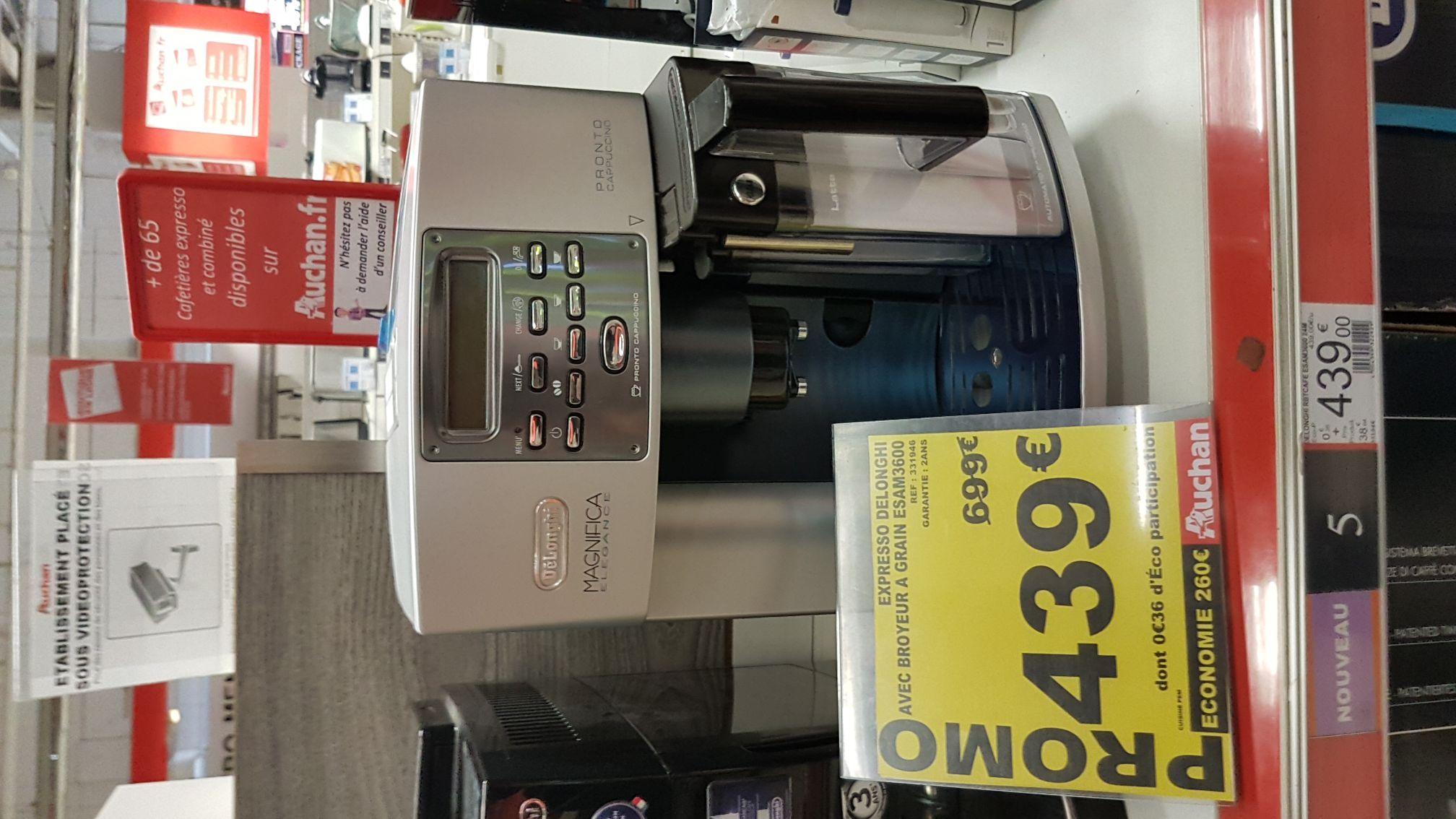 Machine à Expresso Delonghi Magnifica Elegance ESAM3600 - Auchan bagnolet (93)