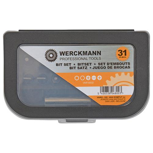 Set d'embouts Werckmann 31 pièces