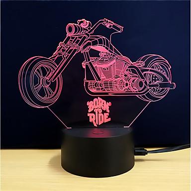 Lampe LED Moto effet 3D / illusion d'optique
