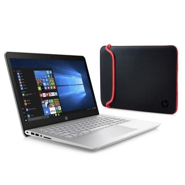 """PC Portable 14"""" HP Pavilion 14bk101nf - i5-8250U, 8Go de RAM, 256Go de SSD, Autonomie 11h30, Windows 10 + Housse"""