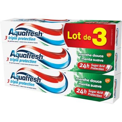 Lot de 3 Tubes de Dentifrice Aquafresh (Variétés au choix) - 3 x 75ml