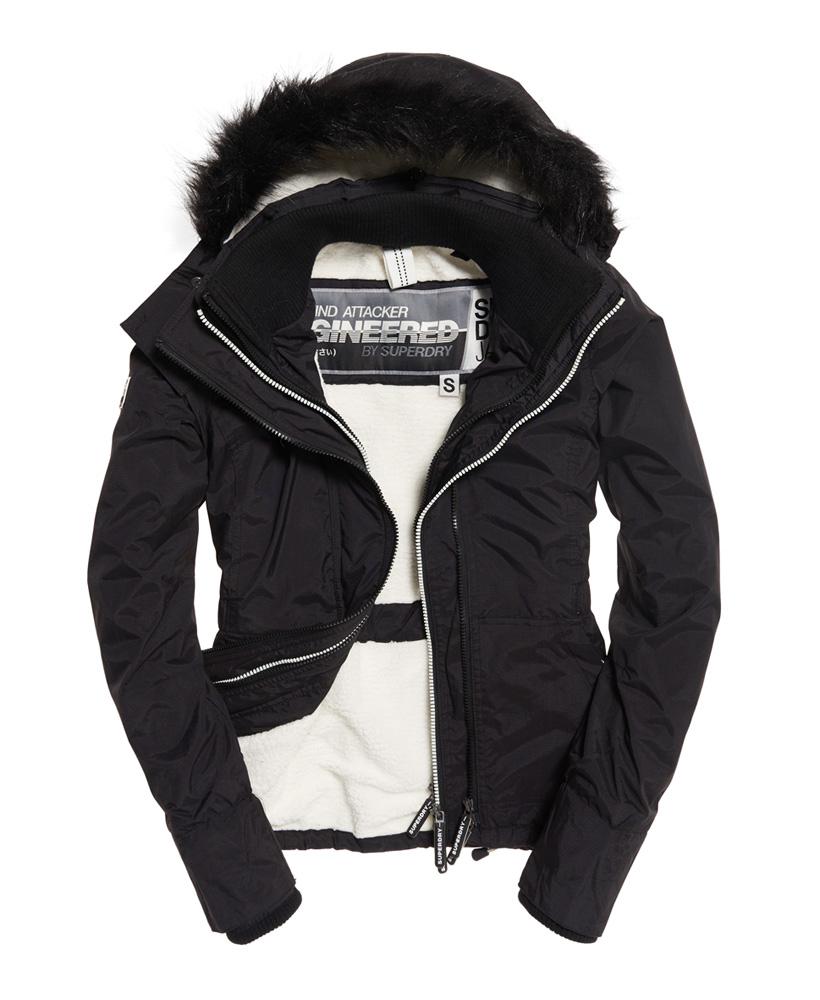 Sélection de vestes Superdry pour femme à 64,98€ - Exemple : Veste à capuche en fourrure Sherpa Wind Attacker