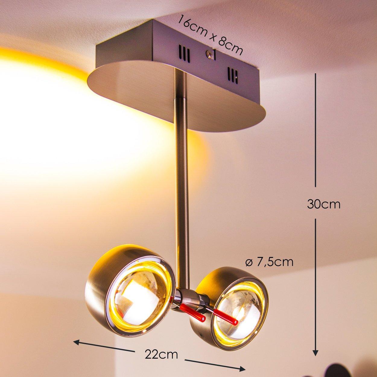 Plafonnier LED Hofstein Florence H166568 - 2 x 4,5W (Vendeur Tiers)