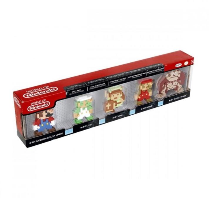 Pack de 5 Mini figurines Nintendo Rétro 8 Bits