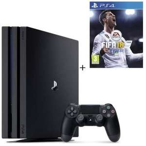 Console Sony PS4 Pro - 1 To (Noir ou Blanc) + FIFA 18