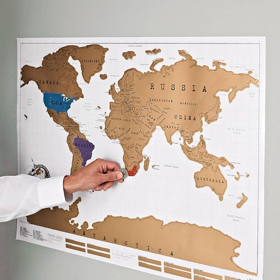 Carte du monde à gratter (88 x 52 cm)