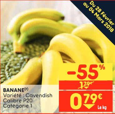 Bananes variété Cavendish - 1 kg