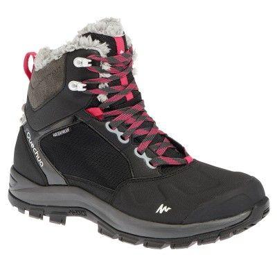 Chaussures de randonnée pour femme Quechua SH500 Active Warm F - noir au Decathlon Aurillac (15) et Bron (69)