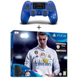 Pack console Sony PS4 Slim (1 To) + 2ème manette DualShock 4 - édition PS Football Club + FIFA 18