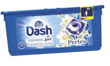 Lot de 2 Packs de Lessive en Capsules Dash Perles 2-en-1 - Variétés au choix (Via BDR + Appli)