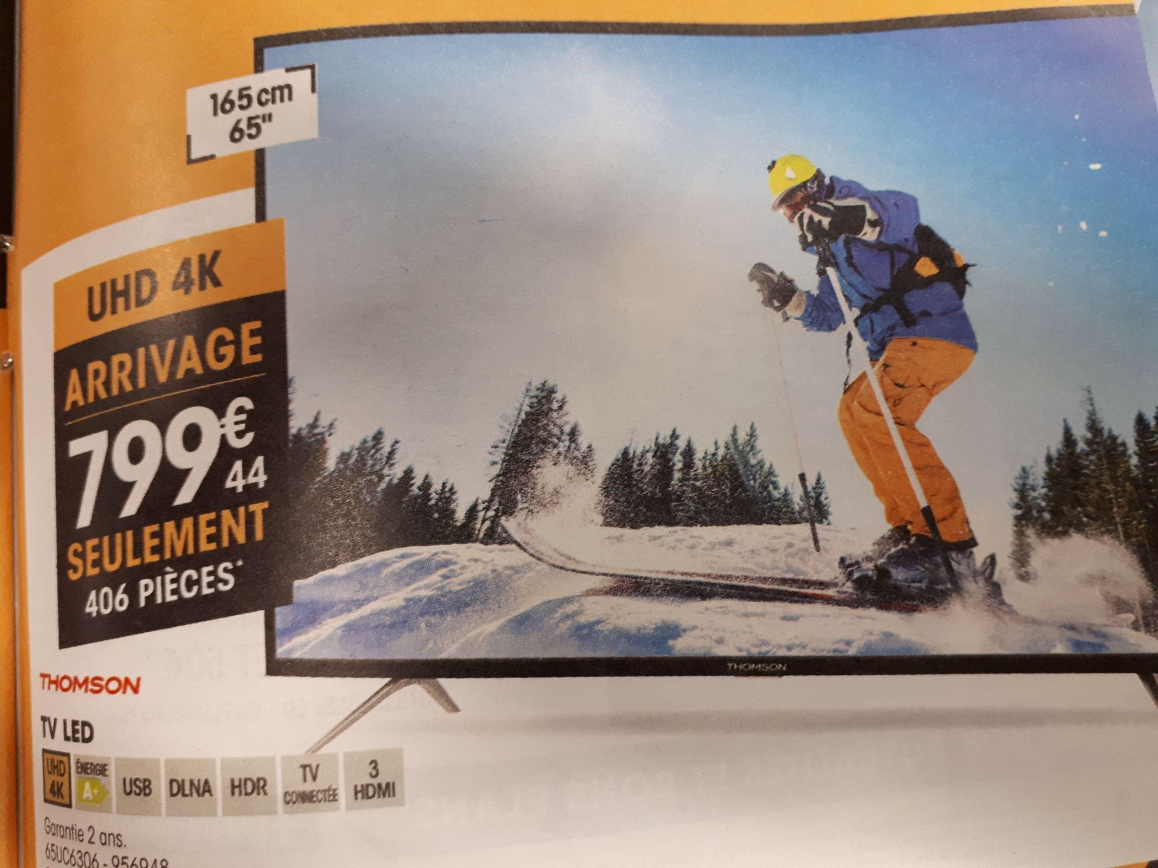 "TV LED 65"" (165cm) Thomson 65UC6306 - HDR - UHD 4K, Smart TV"