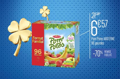 Carton de 96 Gourdes Pom'Potes (Variétés au choix) - 96 x 90g (Via Carte de Fidélité)