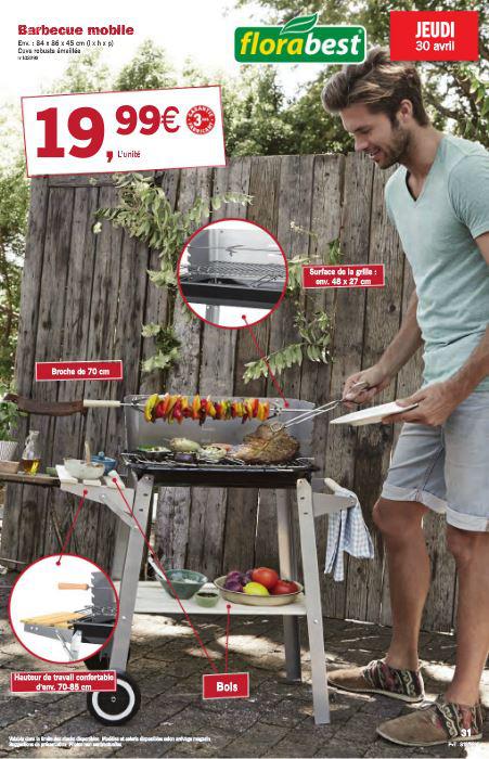 Barbecue sur pied Florabest (84x86x45cm)