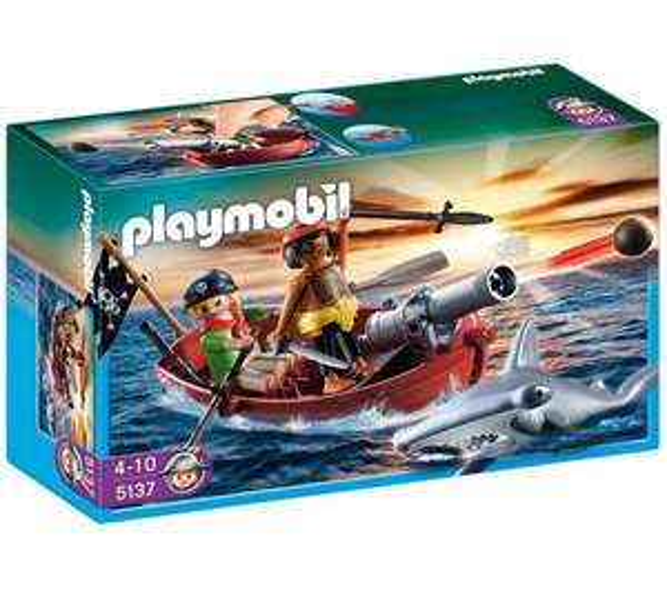 Jeu  Barque des pirates avec requin-marteau Playmobil 5137