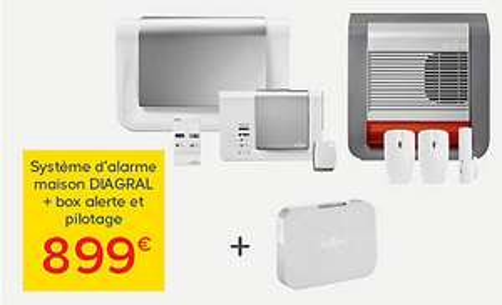 Alarme Diagral DIAG17BSF + box Alerte et pilotage + 2 accessoires