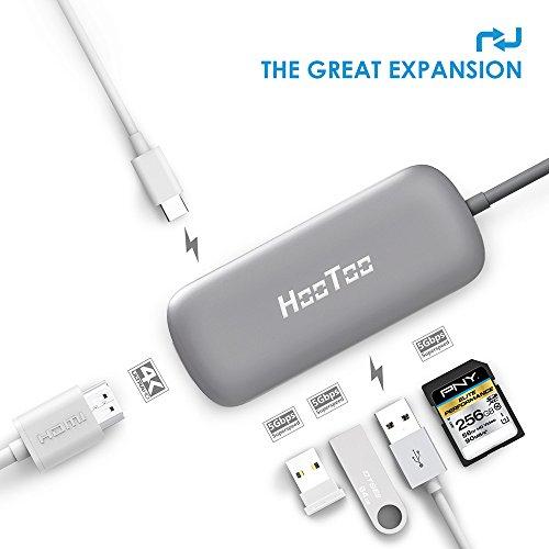 Hub USB Type-C HooToo - Gris Sidéral, 60 W (vendeur tiers)