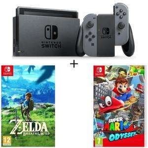 Console Nintendo Switch + Mario Odyssey + Zelda : Breath of the wild