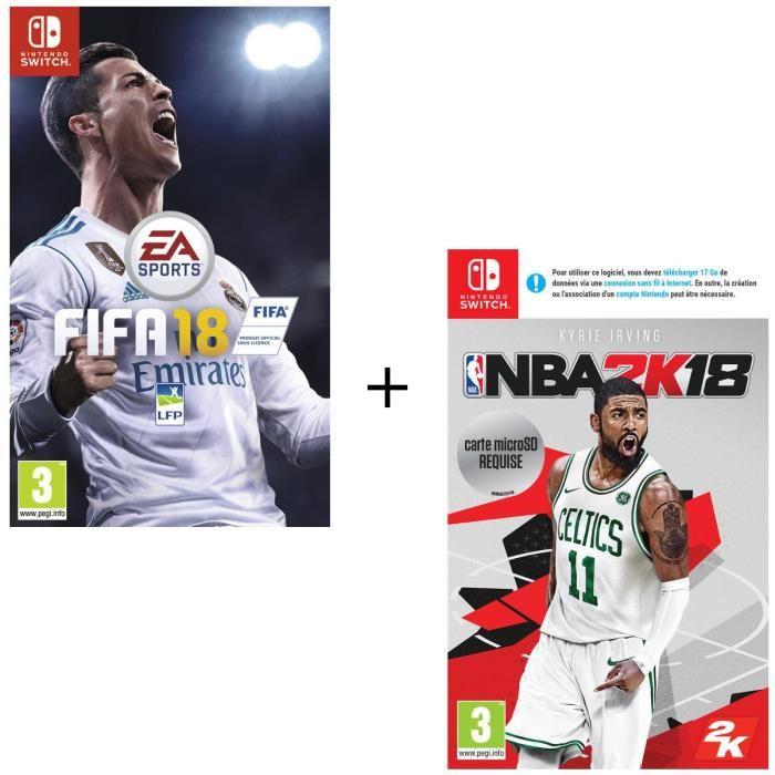 FIFA 18 + NBA 2k18 (Dématérialisé) sur Nintendo Switch