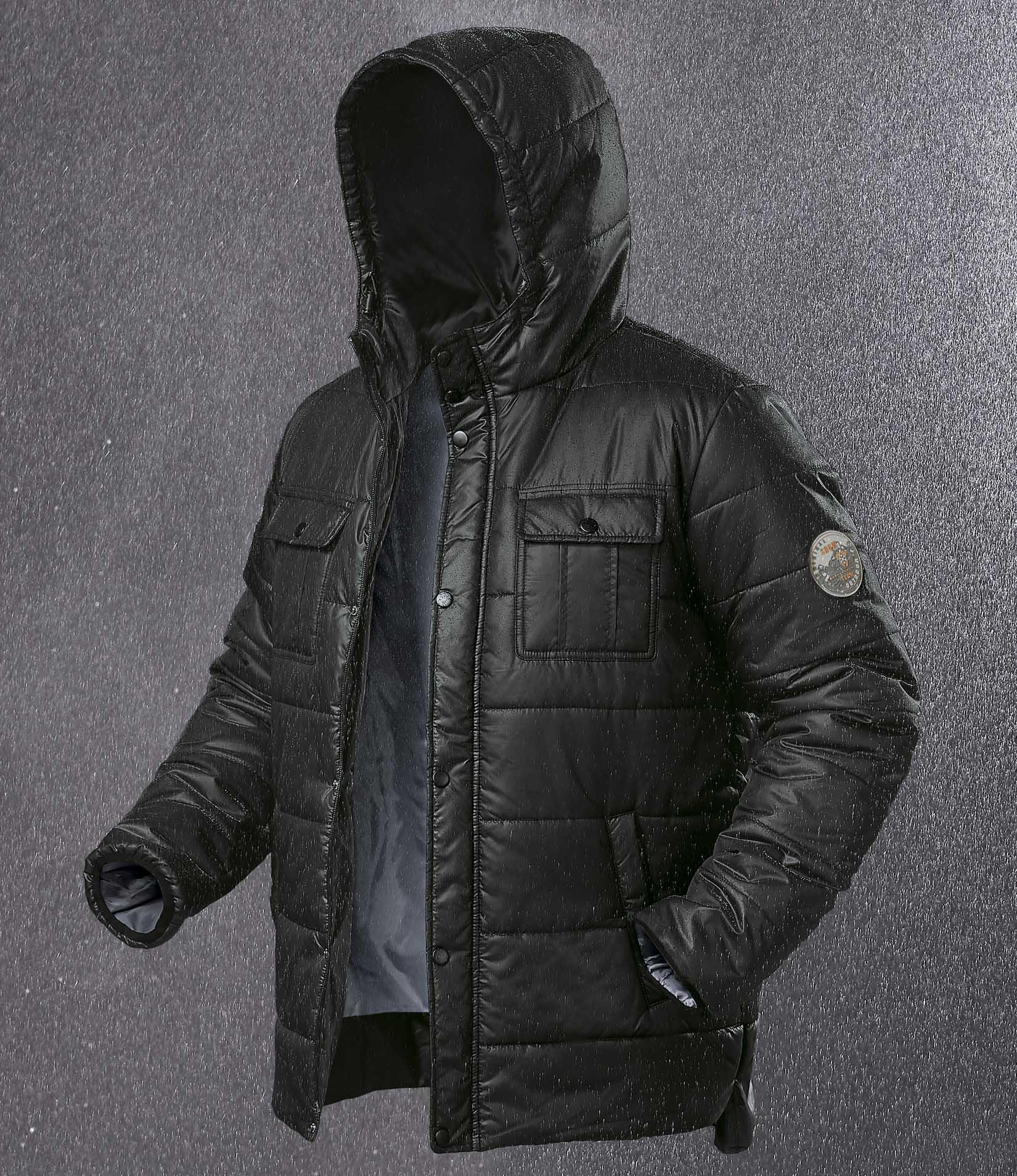 Doudoune à Capuche Great Snow Noir pour Hommes - Tailles au choix