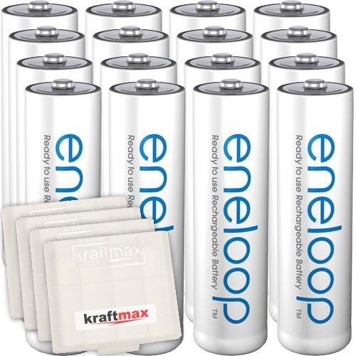 Lot de 16 piles Panasonic Eneloop AA - 2000mAh