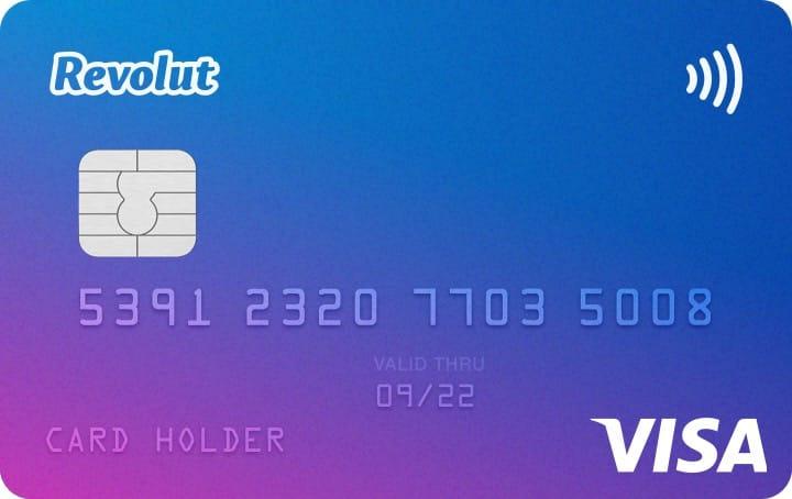 Carte de débit VISA Revolut gratuite (au lieu de 6€)