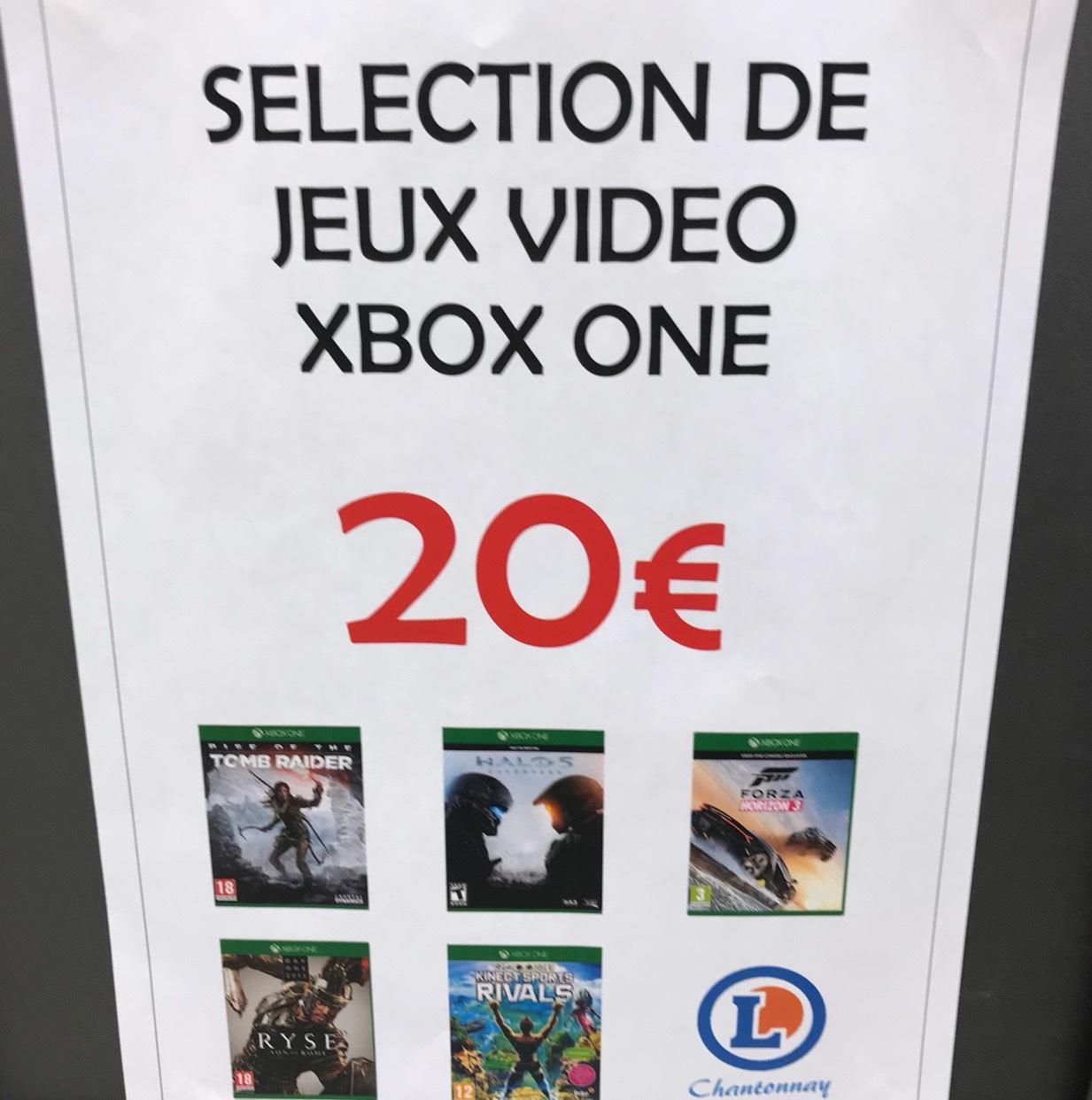 Sélection de Jeux Xbox One à 20€ - Ex : forza horizon 3 sur Xbox One - Leclerc chantonnay (85)