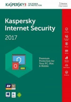 Licence Kaspersky Internet Security compatible Windows, Mac et Android - 1 Poste, 1 an (Dématérialisé)