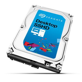 """Disque dur interne 3.5"""" Seagate Desktop SSHD - 1 To (8 Go Nand)"""