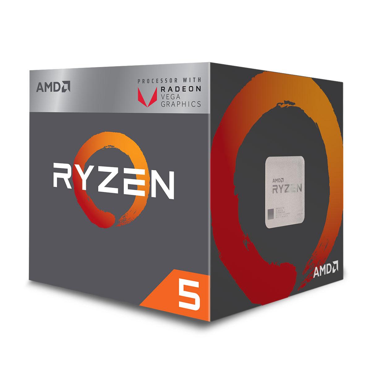 Processeur AMD Ryzen 5 2400G avec Ventilateur Wraith Stealth - Radeon RX Vega 11 (3.6 GHz)
