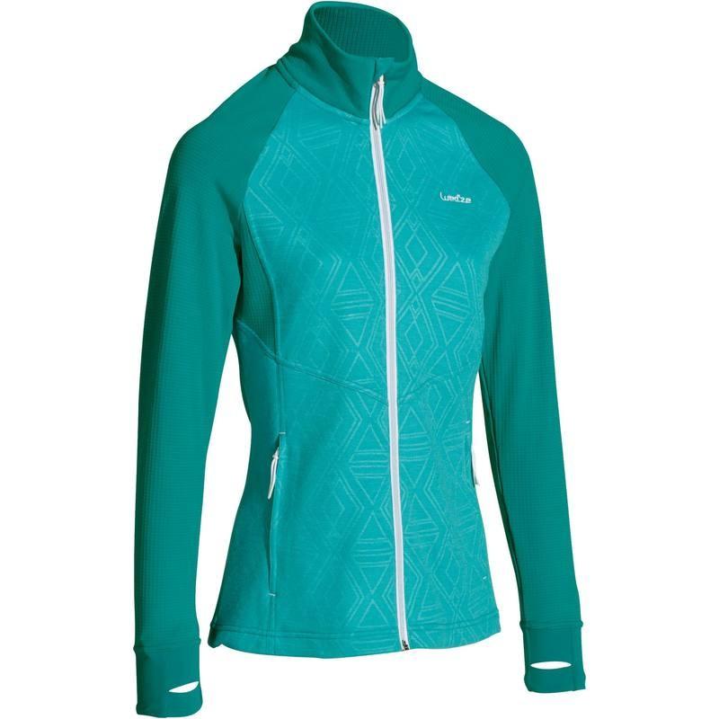 Sous-veste de Ski Wed'ze Mid Warm 500 Bleu Turquoise pour Femmes - Tailles au choix