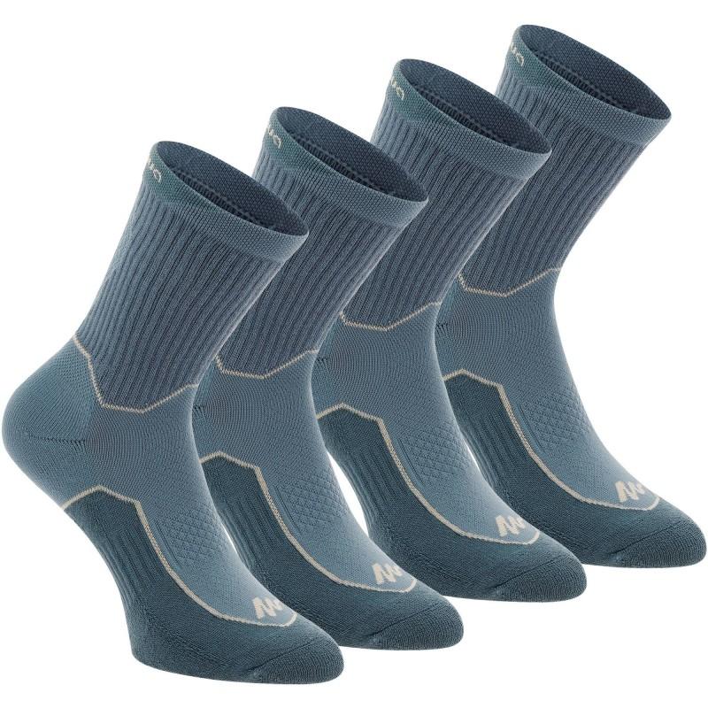 Lot de 2 paires de chaussettes de randonnée Quechua Arpenaz 100 - bleu (du 35 au 46)
