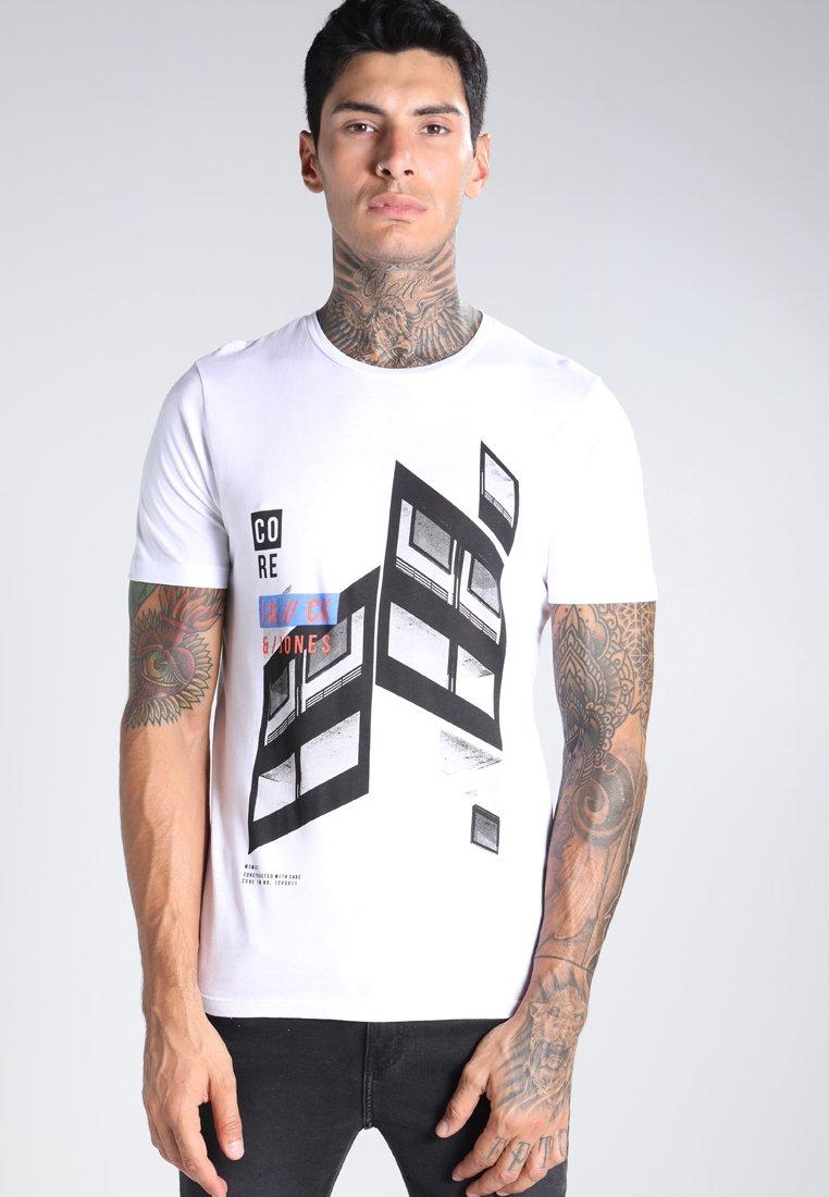 Sélection d'articles en Promotion - Ex: T-Shirt Jack & Jones Jcocode Crew Neck Slim Fit Blanc - Tailles au choix
