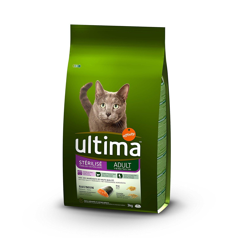 Sac de croquettes Ultima saveur saumon pour chats - 7.5kg