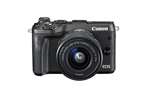 Appareil Photo Numérique Hybride Canon EOS M6 + Objectif 15-45mm - Noir