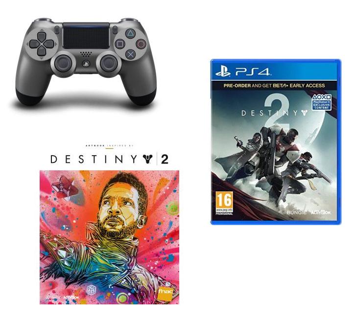 1 Accessoire Sony acheté parmi une sélection = Destiny 2 Offert sur PS4 - Ex : 1 Manette Sony DualShock 4 (Steel Black ou Rouge Crystal) + Destiny 2 + Artbook