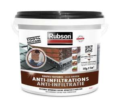 Rubson Anti infiltrations Toutes Toitures - Noir, 1kg