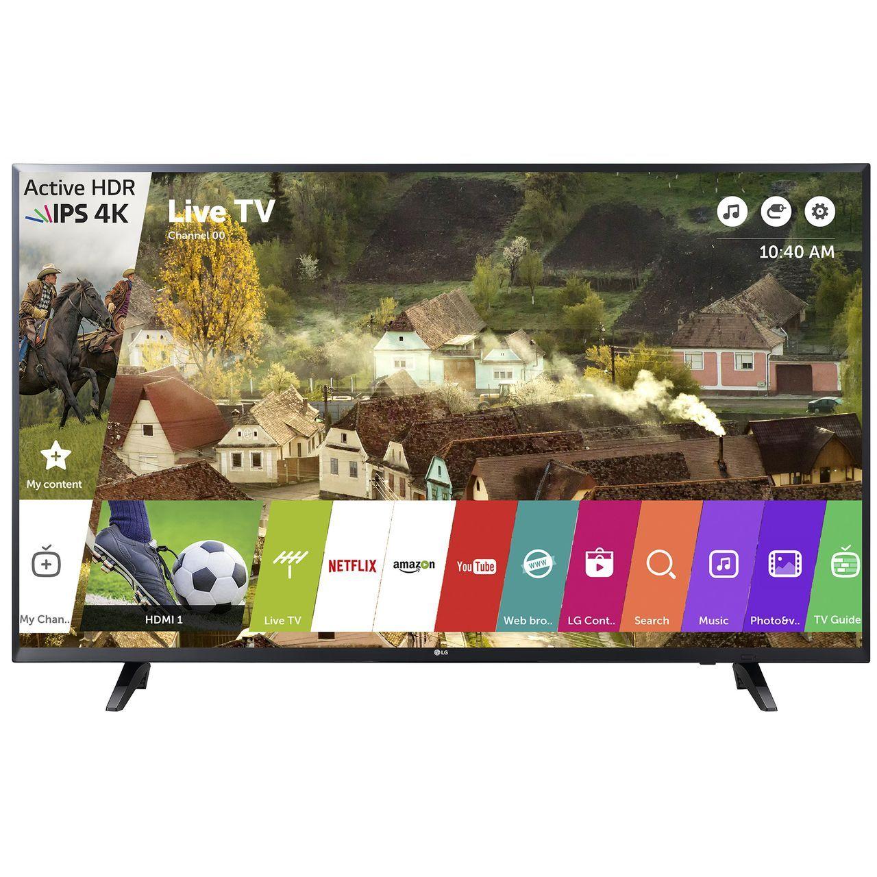 """TV 43"""" LG 43UJ620V ‑ 4K UHD, Leclerc Langon (33)"""