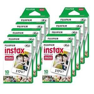 10 Packs de 10 feuilles photo Fujifilm Instax Mini