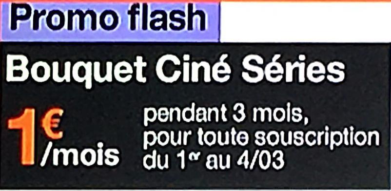 [Abonnés Internet : Orange / Sosh] Abonnement mensuel au Bouquet Ciné Séries pendant 3 mois (sans engagement)