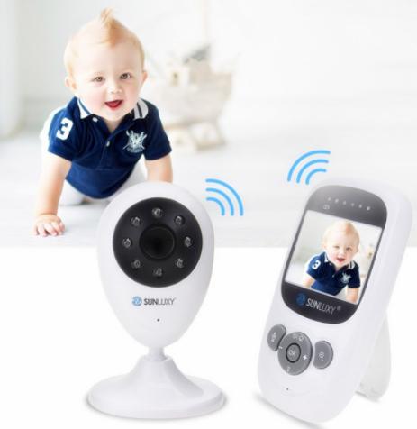 Babyphone Sunluxy avec caméra et capteur de température