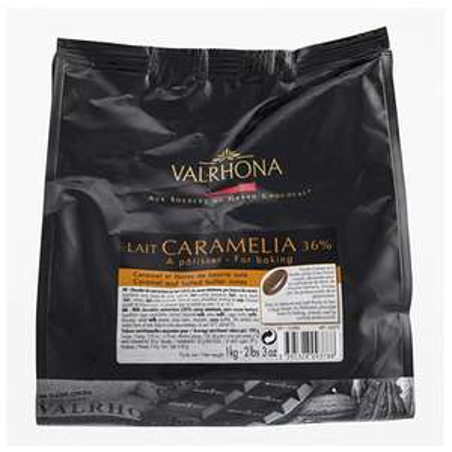 Sac de fèves Caramelia chocolat au lait Valrhona