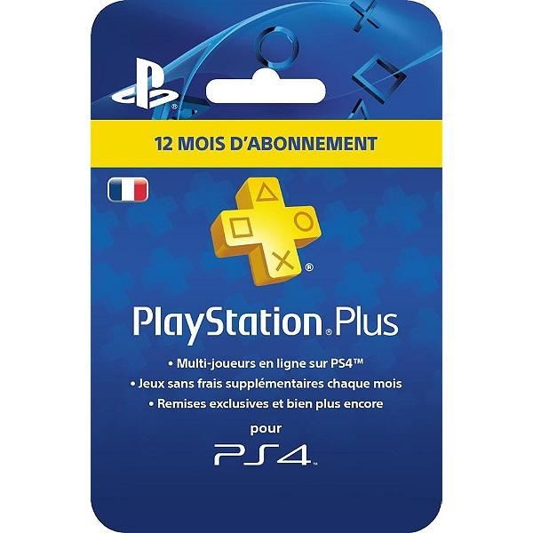 Abonnement Playstation Plus - 12 mois (Physique)