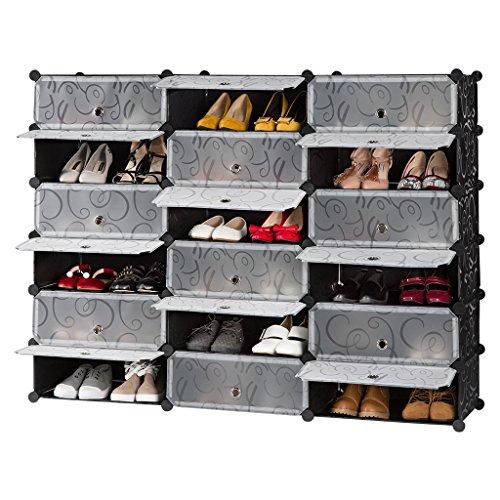 Penderie Etagère à Chaussures Modulable DIY 18 Cubes - (vendeur tiers)