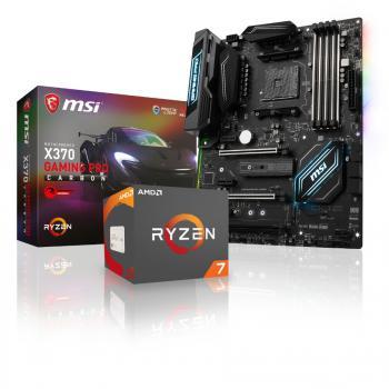 Processeur AMD Ryzen 7 1700X + Carte mère MSI X370 Gaming Pro Carbon