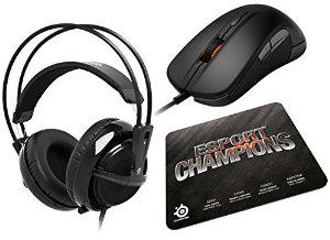 Pack des Champions Gaming SteelSeries - Casque Siberia V2 + Souris Rival + Tapis de souris Qck