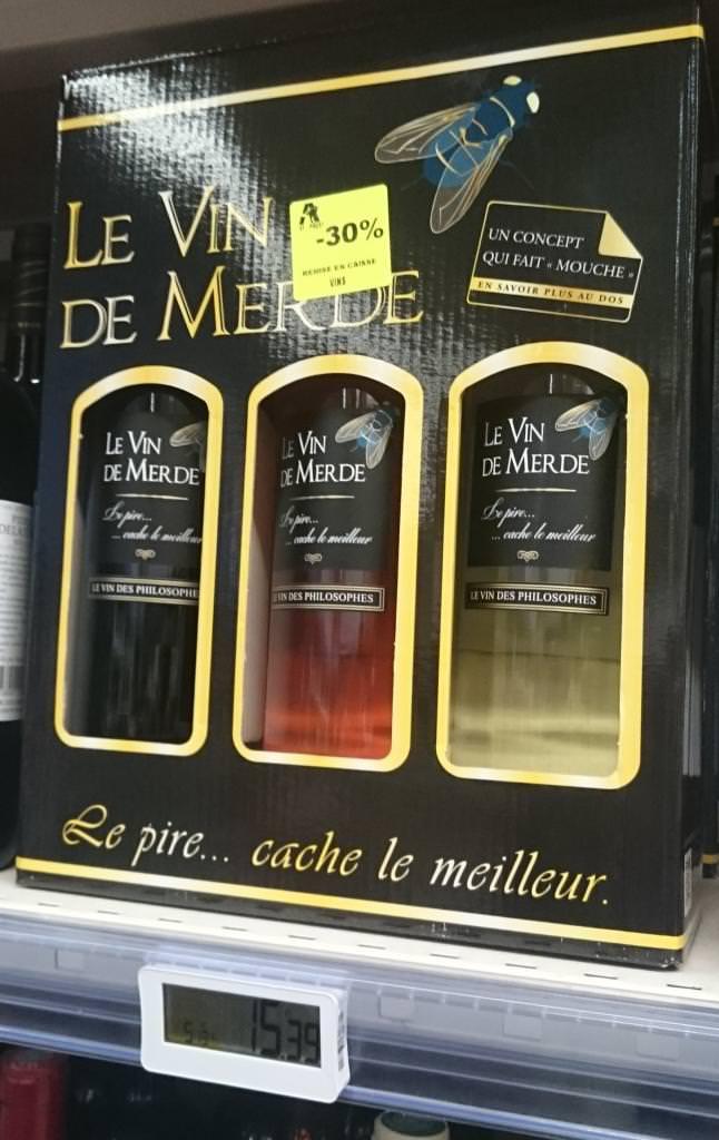 """Lot de 3 Bouteilles """"Le vin de merde"""" - Blanc,rouge, rosé - Porte des Alpes (69)"""