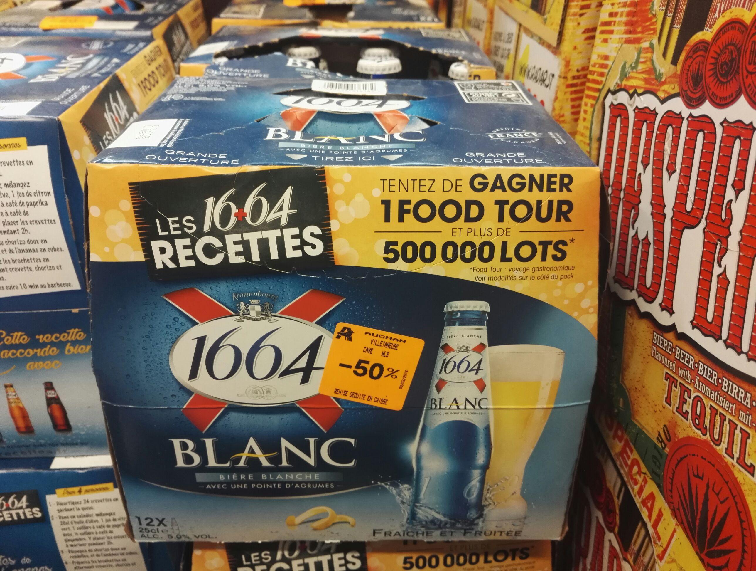 Pack de 12 bières blanches 1664 Blanc - 25 cl - Villetaneuse (93)
