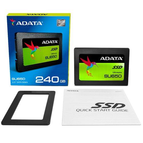 "SSD interne 2.5"" Adata Ultimate SU650 (mémoire TLC 3D) - 240 Go"