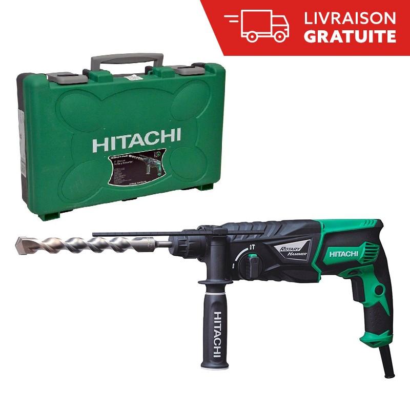 Coffret perforateur électrique Hitachi DH26PB (830 W) + mandrin